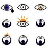 Eyes iconos Imagen de archivo