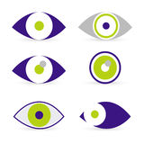 Eyes icons Royalty Free Stock Images