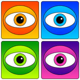 Eyes icons Stock Photo
