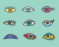 Eyes icons Stock Photo