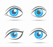 Eyes icons cyber Stock Photography