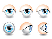 Eyes icons Stock Photography