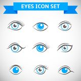 Eyes Icons Set Royalty Free Stock Photography