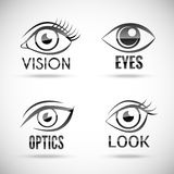 Eyes Icons Set Stock Images