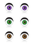 Eyes icons on white Royalty Free Stock Photography