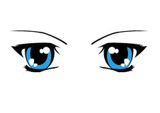 Eyes illustration. Vector illustration of eyes drawn in manga style stock illustration