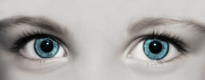 Eyes of a kid stock photography