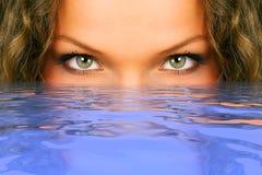 eyes kvinnan Arkivfoton