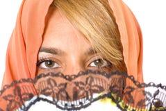 eyes kvinnan Arkivfoto