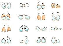 Eyes le espressioni Immagine Stock Libera da Diritti