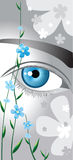 Eyes like forget me not. Eyes like a flower forget-me-not Stock Photos