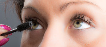 Eyes and long eyelashes Stock Photos