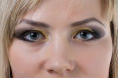 Eyes looking at camera Stock Photography