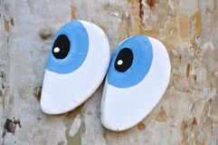 Eyes made of wood Stock Photos