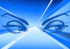 Eyes in magic lights Royalty Free Stock Photography