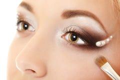 Eyes makeup closeup Stock Images