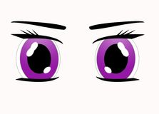 eyes manga Royaltyfri Bild