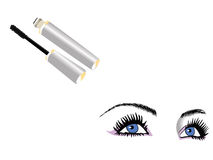 Eyes and mascara Stock Photography