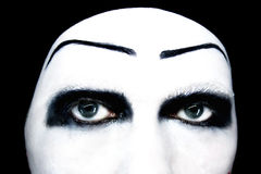 Eyes of the mime close up Stock Photo