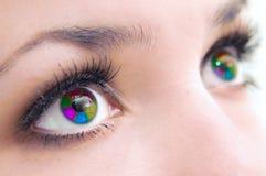 eyes mångfärgat Arkivbild