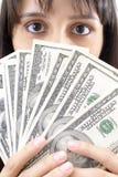 Eyes Money Stock Photography