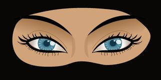 Eyes of a Muslin Woman in Chador royalty free stock image