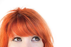 Eyes Of Redhead Woman Stock Image