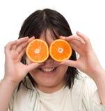 eyes orangen arkivfoto