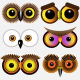 Eyes of owls Royalty Free Stock Photos