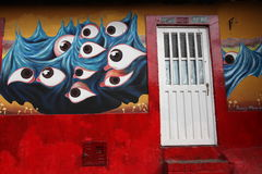 Eyes. A paint in a street of bogota, colombia Stock Image