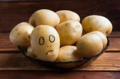 Surprised potato stock image