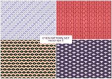 Eyes Pattern Backgrounds Set. Eyes Pattern  Four Backgrounds Set Royalty Free Stock Image