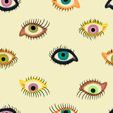 Eyes pattern Royalty Free Stock Photo