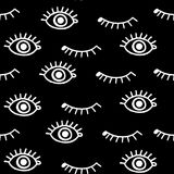 Eyes. Pattern with eyes white and black Royalty Free Stock Images
