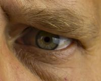 Eyes of a person without a face - middle-aged men stock images