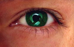 Eyes. A photography of my eye. Colorful, colors Stock Photo