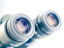 Eyes piece of microscope Stock Photo