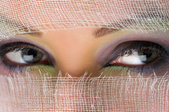 Eyes pretty woman Stock Images