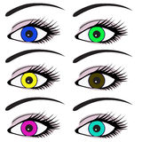 Eyes with pupils of different colors Royalty Free Stock Photography