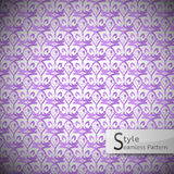 Eyes purple abstract vintage seamless pattern vector illustration Stock Images