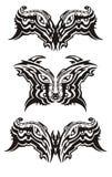 Eyes símbolos no estilo tribal Imagens de Stock