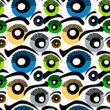 Eyes Seamless Background. Eyes and eyebrows background Stock Images