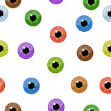 Eyes seamless pattern on white background. Eyeballs iris concept. Vector illustration Royalty Free Stock Images
