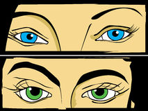 Eyes set Stock Image