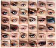 Free Eyes Set. Royalty Free Stock Images - 75908849
