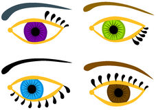 Eyes set with different colors Stock Photo
