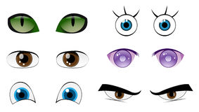 Eyes set. Vector Set Cartoon Eyes For Your Characters, Eps 10 Vector Royalty Free Stock Image