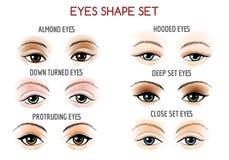 Eyes Shape Set Royalty Free Stock Photography