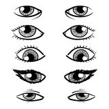 Eyes sketch Stock Image