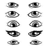 Eyes sketch Stock Image